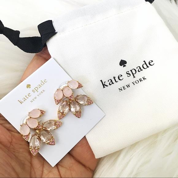♠️ Kate Spade Pink Blushing Blooms Ear Jackets